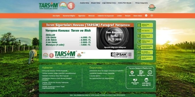 Tarsim'in Yeni Web Sitesi Yayında