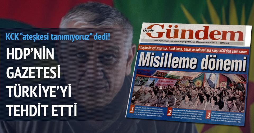 KCK'dan Türkiye'ye alçak tehdit