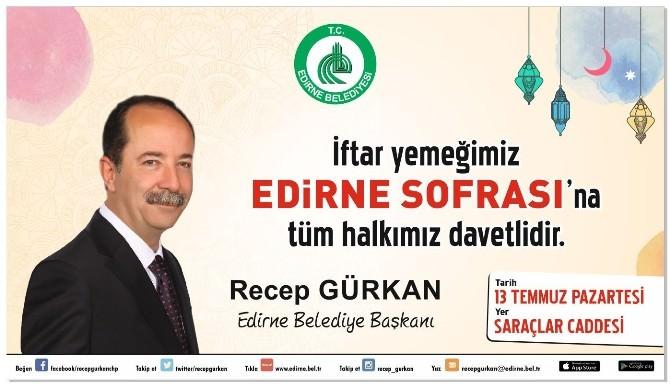 Edirne Belediyesi, Saraçlar Caddesi'ne 'Edirne Sofrası' Kuracak