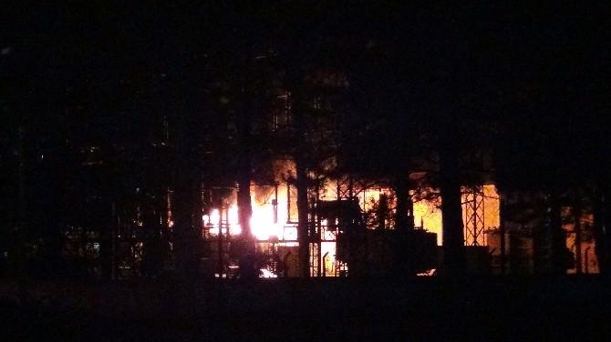 Tokat'ta Patlama Meydana Gelen Trafoda Yangın Çıktı