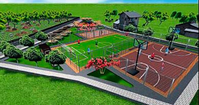 Kepez'de semt spor sahaları yapılıyor