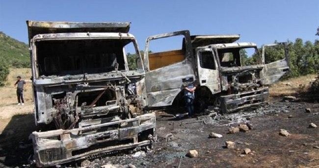 PKK yine iş makinesi yaktı!