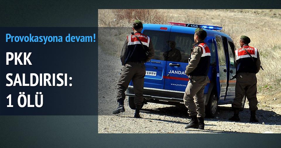 PKK minibüsü taradı