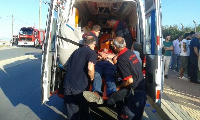 Takla Atan Aracı Elektrik Direği Durdurdu: 1 Yaralı