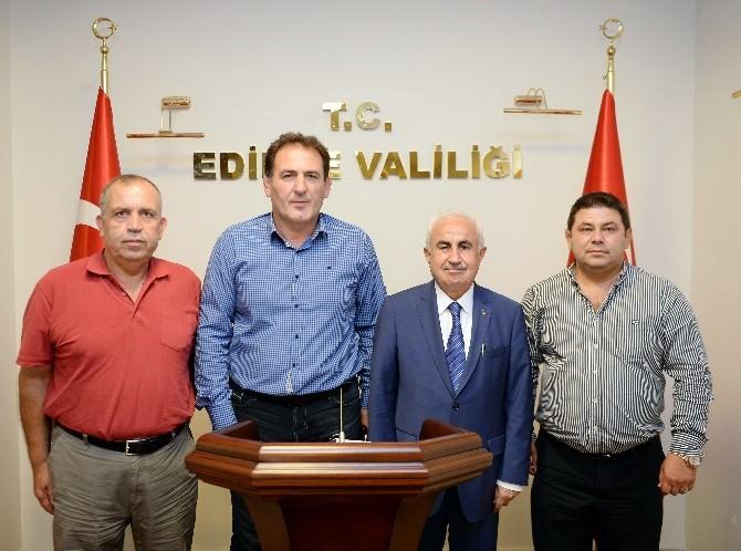 Kırkpınar Heyeti'nden Edirne Valisi Şahin'e Ziyaret