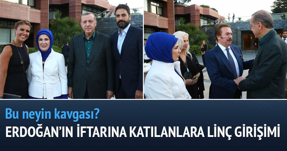 Erdoğan'ın iftarına katılan ünlü isimlere linç