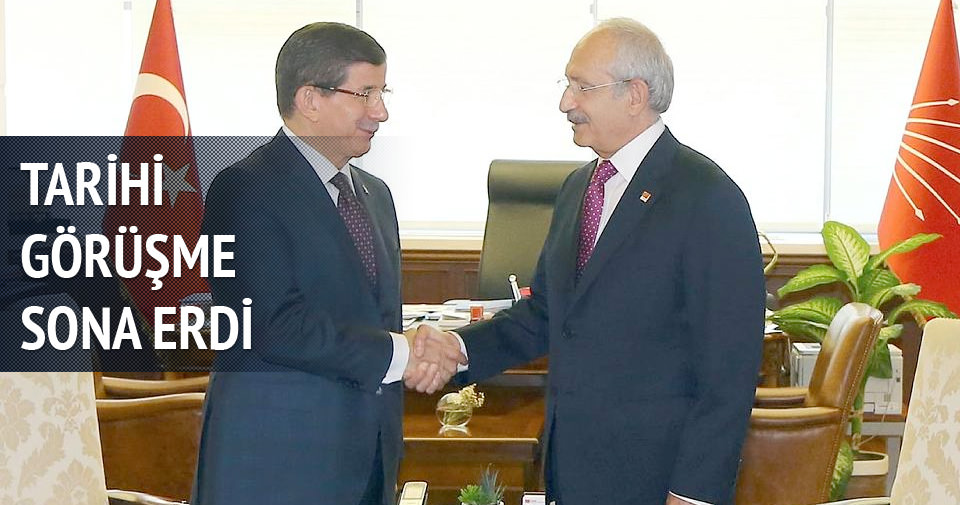 Davutoğlu-CHP görüşmesi tamamlandı