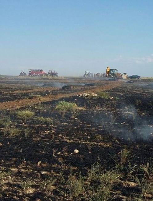 Beyşehir'de Buğday Tarlasında Yangın