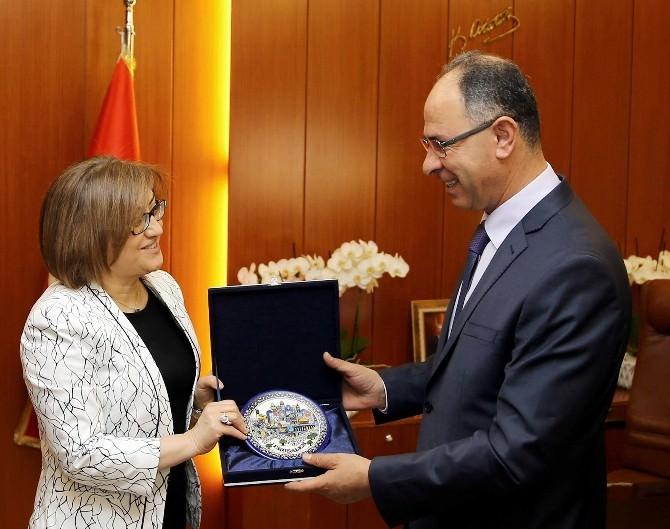 Filistin Büyükelçisi Mustafa'dan Şahin'e Ziyaret