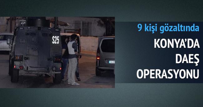 Konya'da DAEŞ operasyonu: 9 gözaltı