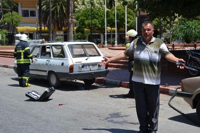 Nazilli'de Gaz Kaçıran Otomobil Korku Dolu Anlar Yaşattı