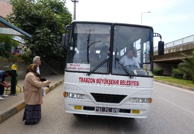Çaykaralılar Otobüs Seferlerinin Arttırılmasının Memnuniyetini Yaşıyor
