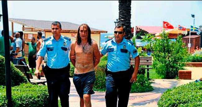 Plaj faresi Gürcü hırsız yakalandı