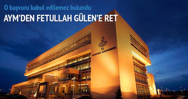Fetullah Gülen'e ret