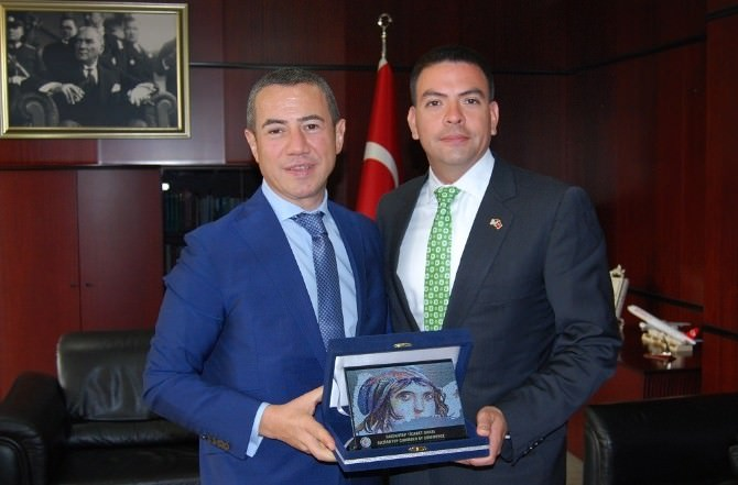ABD'nin Adana Konsolosu Espinoza'nın GTO'ya Ziyareti