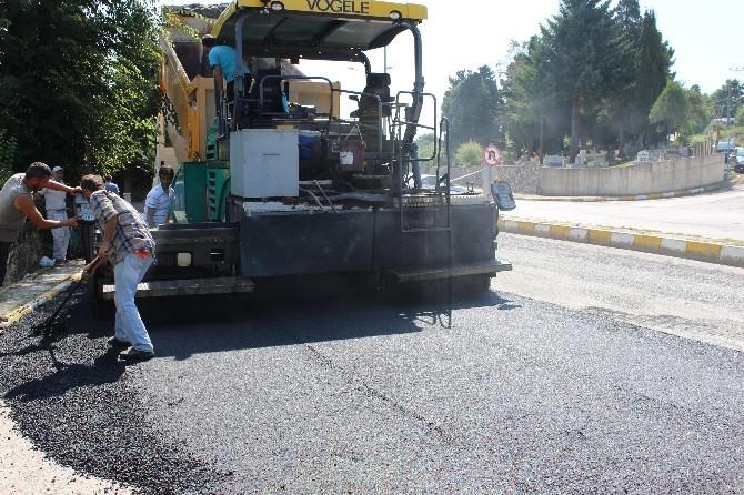 Akçakoca'da Barboros Kavşağında Asfaltlama Çalışmaları Başlatıldı