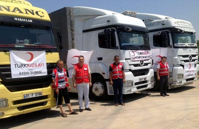 Aydın Kızılay, Türkmenlere Yardım Elini Uzattı