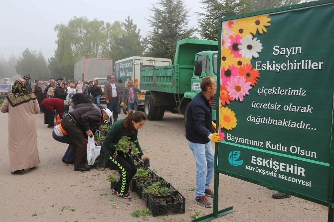 Bayramda Çiçekler Büyükşehir'den Olacak