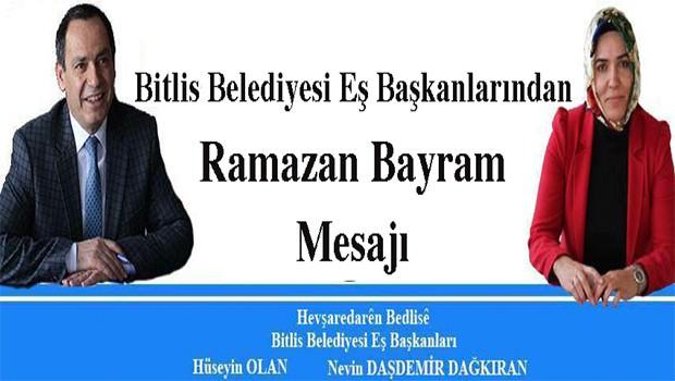Bitlis Belediye Eş Başkanlarından Bayram Mesajı