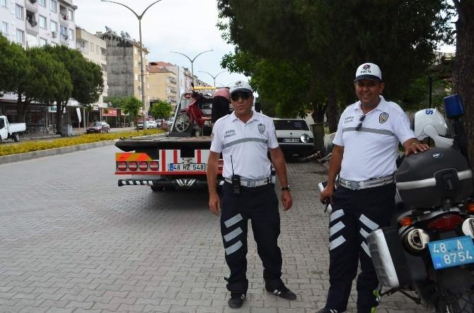 Ortaca'da Motosiklet Sürücüleri Sıkı Denetim Altına Alındı