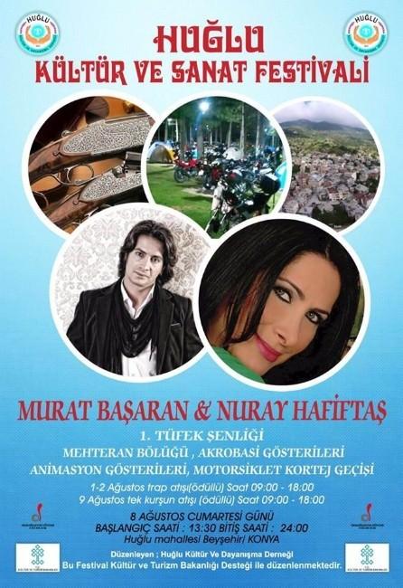 Ünlü Sanatçılar Huğlu'nun Festivalinde Sahne Alacak