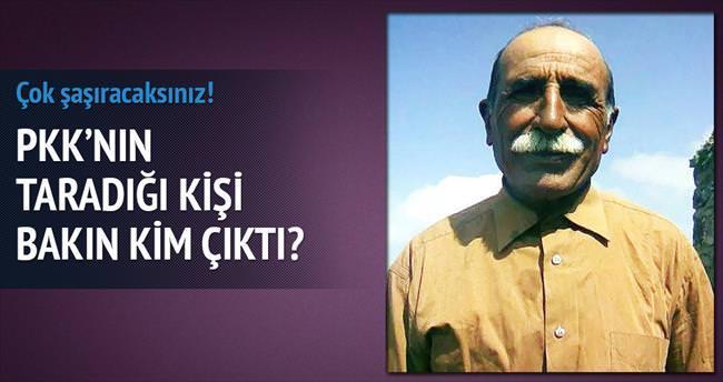 PKK'nın taradığı kişi militan babası çıktı