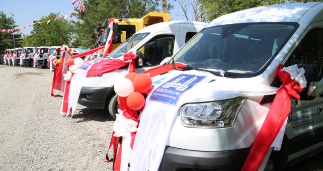 Erzurum Büyükşehir Belediyesi 5. Araç filosunu tanıttı