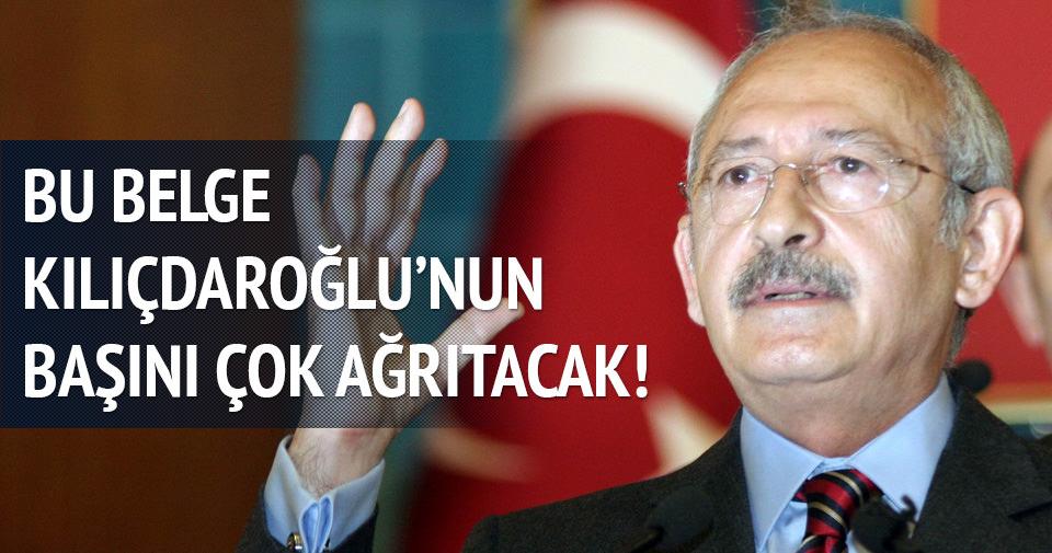 Bu belge Kılıçdaroğlu'nun başını çok ağrıtacak