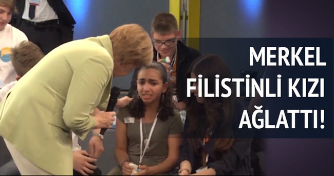 Angela Merkel Filistinli çocuğu ağlattı!