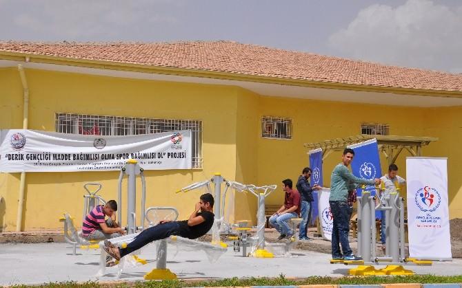 Derik'te Spor Parkı Açılışı Yapıldı