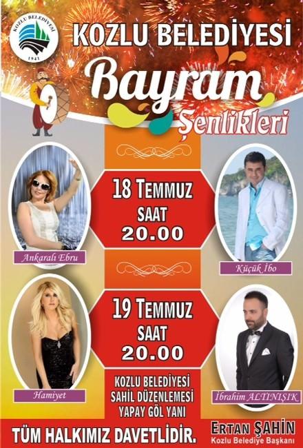 Kozlu'da Bayram Renkli Geçecek