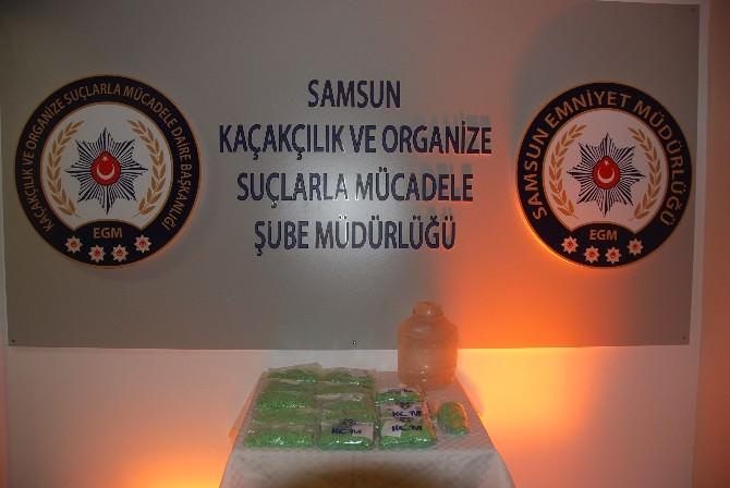 Samsun'da 17 Bin 659 Adet Uyuşturucu Hap Ele Geçirildi