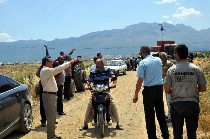Başkan Tutal, Arazi Yangınını Yerinde İnceledi