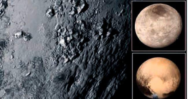 Plüton'un yüzeyinde genç dağ oluşumları