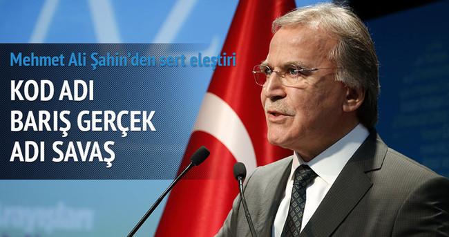 Mehmet Ali Şahin'ten Demirtaş'a: Kod adı barış, gerçek adı savaş
