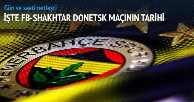 Fenerbahçe-Shakhtar Donetsk maçının tarihi belli oldu