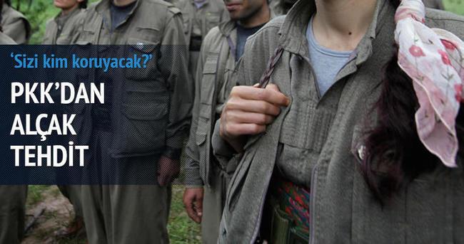 PKK korucuları tehdit etti