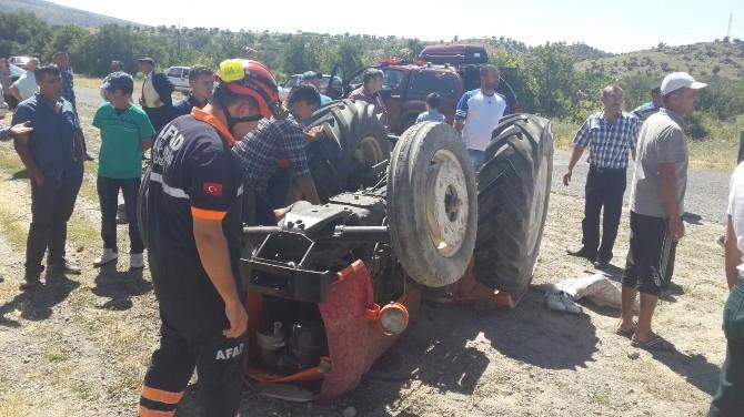 Aksaray'da Traktör Devrildi: İki Yaralı