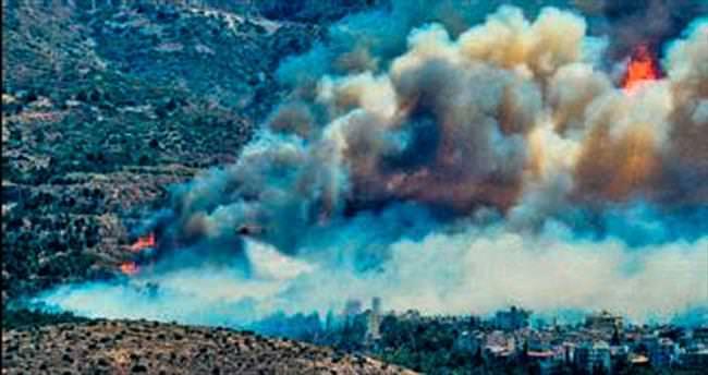 Atina semalarını duman kapladı
