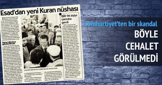 Cumhuriyet'ten 'Kur'an' skandalı