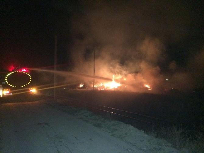 Bor'da Çıkan Yangın Korkuttu