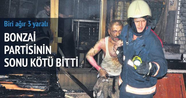 Bayram günü bonzai partisi dükkânı yaktı