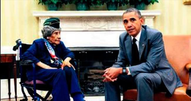 En yaşlı gazi Beyaz Saray'da