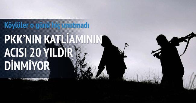 PKK'nın o köyde yaptıkları unutulmuyor