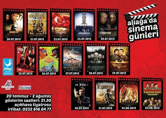 Aliağa'da Ücretsiz Sinema Günleri 'Kabadayı' İle Başlıyor