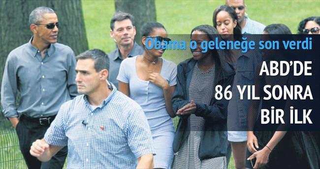 Obama 86 yıllık geleneği bozdu