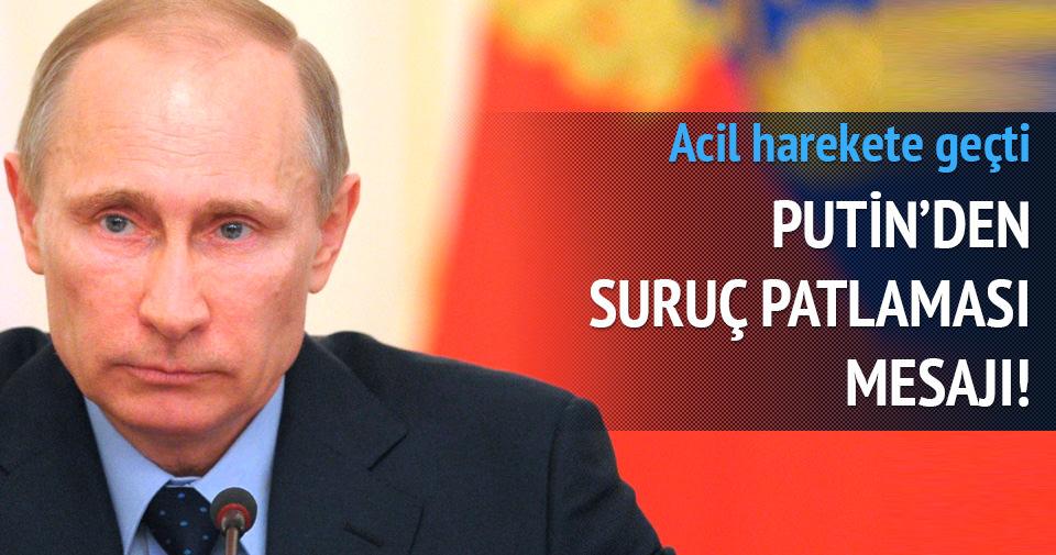 Putin'den Türkiye'ye başsağlığı mesajı