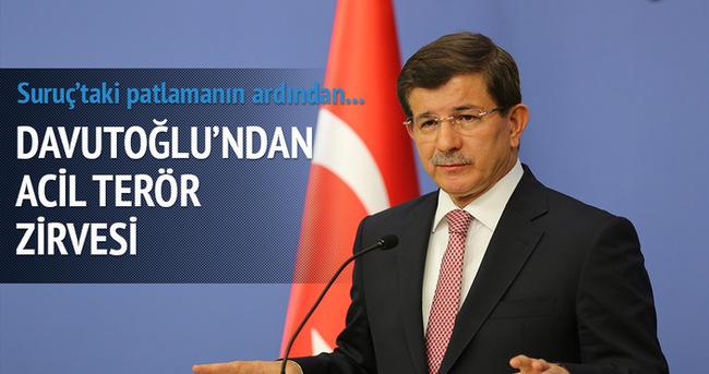 Başbakan Ahmet Davutoğlu'ndan sürpriz toplantı