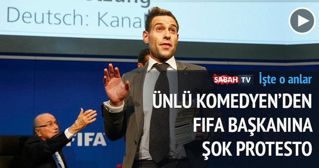 Blatter'e şok protesto