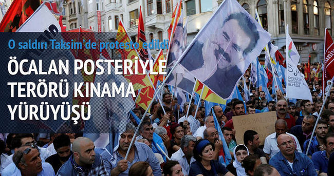 Suruç saldırısı Taksim'de protesto edildi